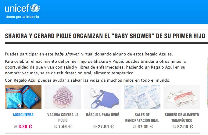 Unicef Baby Shower