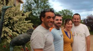 Con Carlos Pauner y Javier y Litzan de Allucant.
