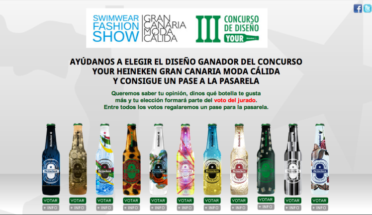 Vota tu botella III Edición Your Heineken