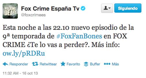 Fox Crime España en Twitter