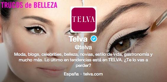 Bio de Telva en Twitter