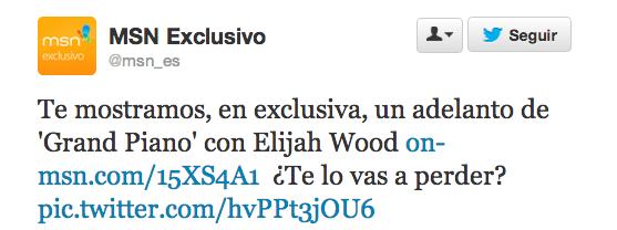 MSN Exclusivo y la promo de la peli de Wood